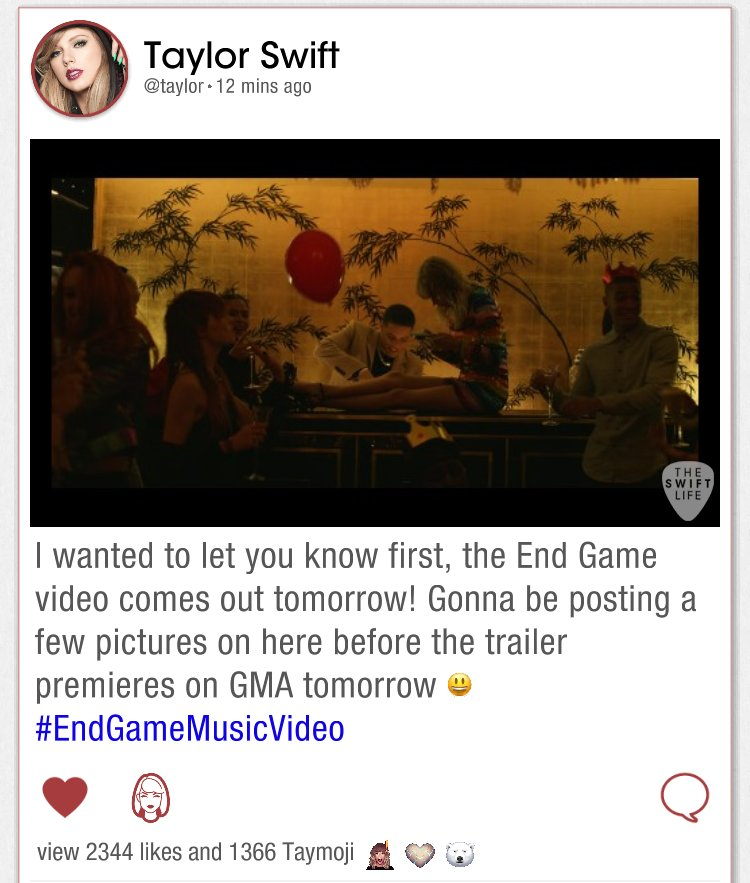 Taylor Swift teases 'End Game' video